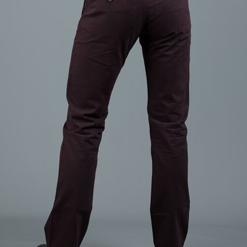 JONNIE DARK BURGUNDY SLIM FIT CHINO