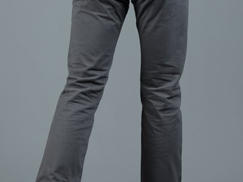 JONNIE CHARCOAL SLIM FIT CHINO