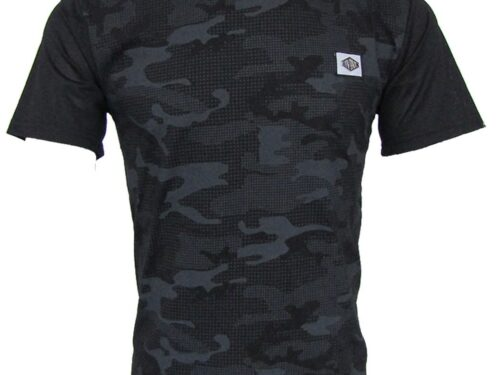 Ghost Black Tee with Camo Design