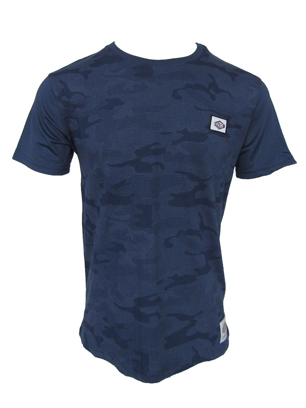 Ghost Navy Tee with Camo Design