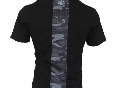 Capital Black Tee with Chest Print/Cut & Sew Back Panel