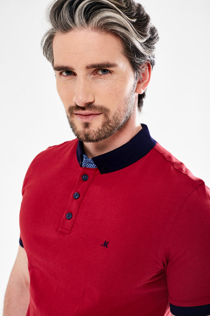 CHERRY RED POLO TOP