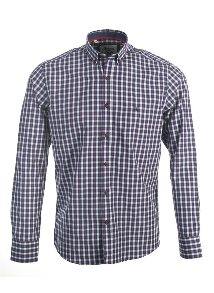 VIONTA NAVY/RED CHECK SHIRT