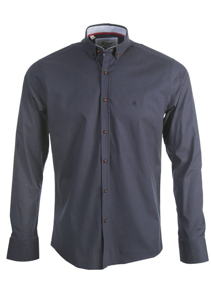 TOJA NAVY/TAN SHIRT