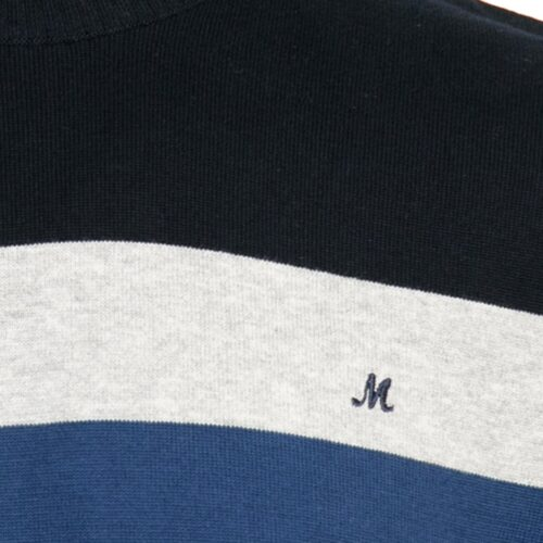 ISLONA NAVY/GREY/DARK BLUE  COTTON CREW KNITWEAR