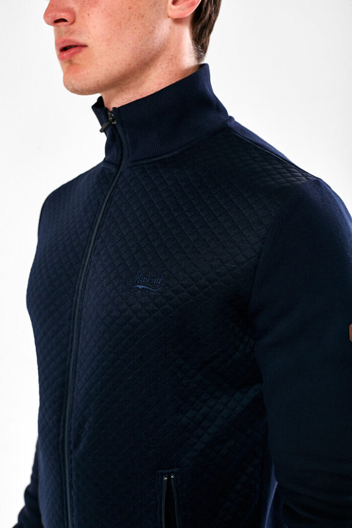 full zip navy sweat