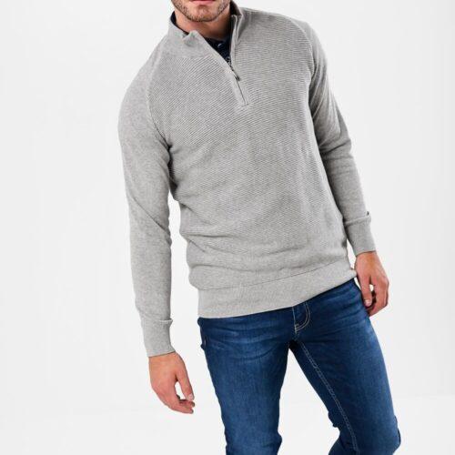 zip neck jumper