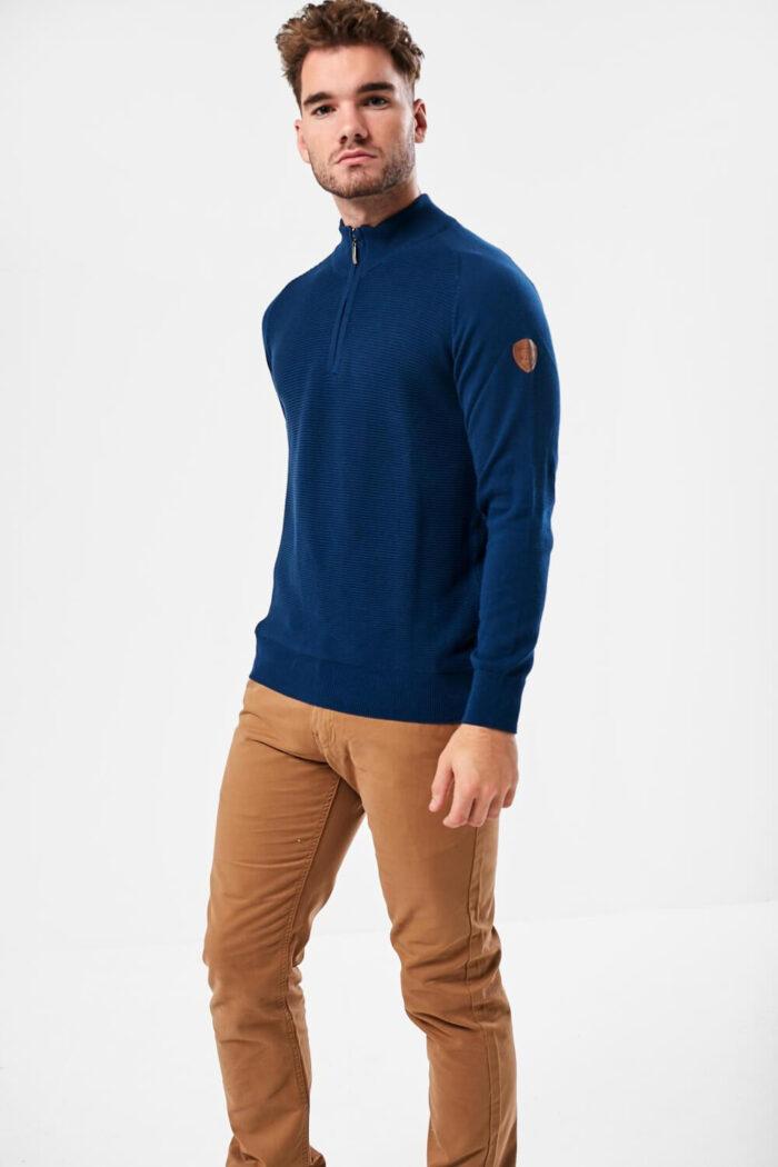 zip neck knitwear