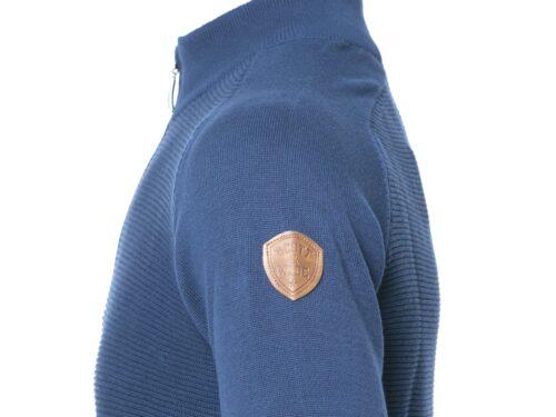 BORDUY DARK BLUE 1/4 ZIP KNITWEAR