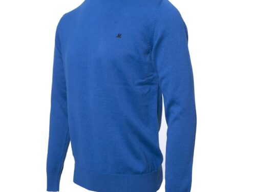 ARIANA  100%COTTON COBALT CREW KNIT COTTON