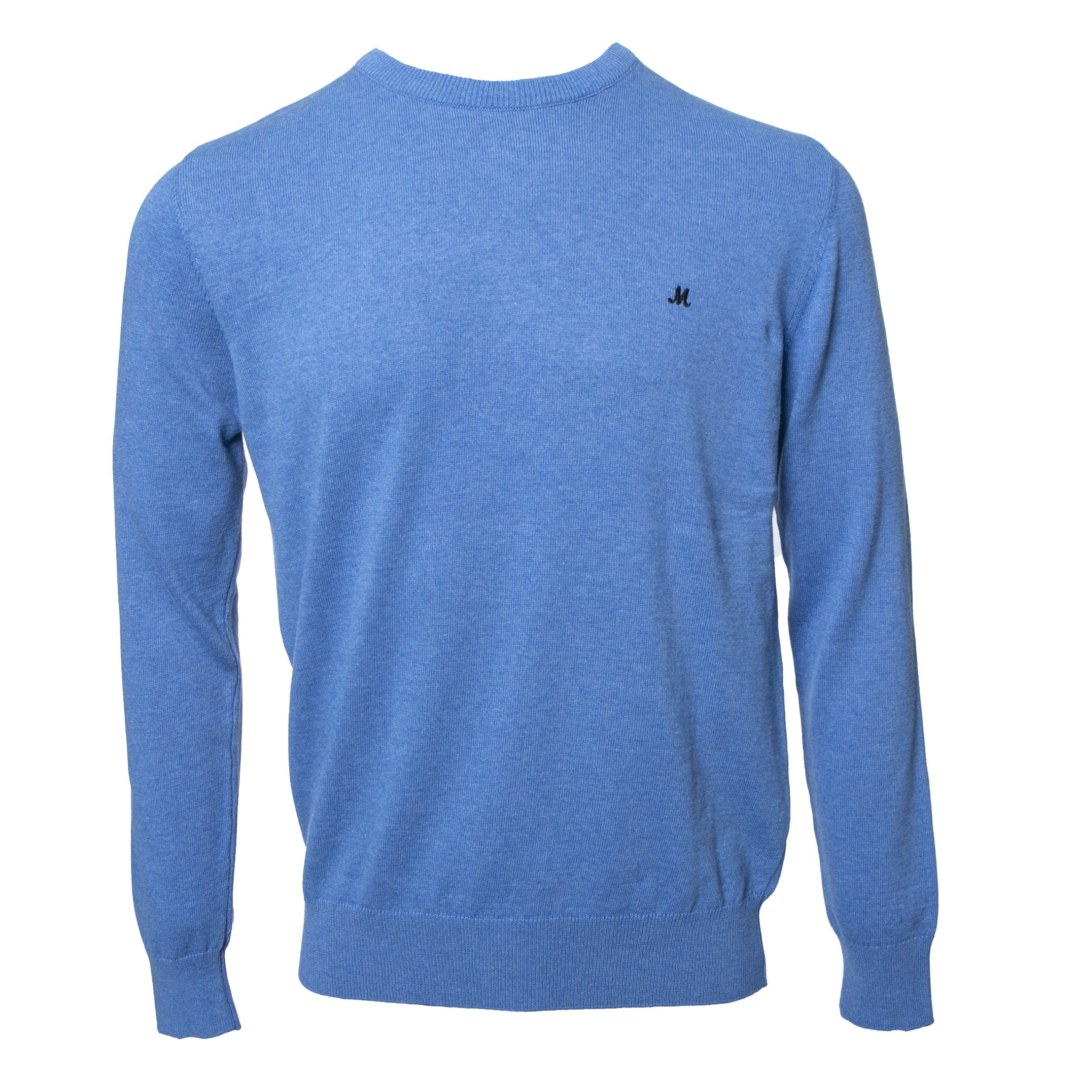 ARIANA MID BLUE CREW KNITWEAR 100% COTTON