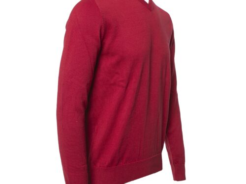 AZENHA CHERRY V NECK COTTON KNITWEAR