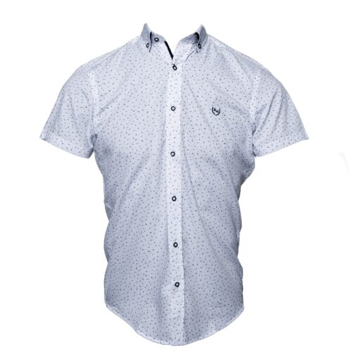 HORCH WHITE/NAVY PRINTED SHORT SLEEVE SHIRT