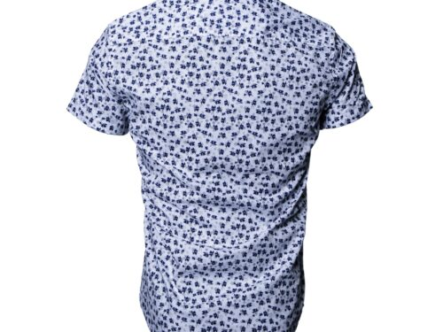 ASTURA WHITE/NAVY SHORT SLEEVE SHIRT