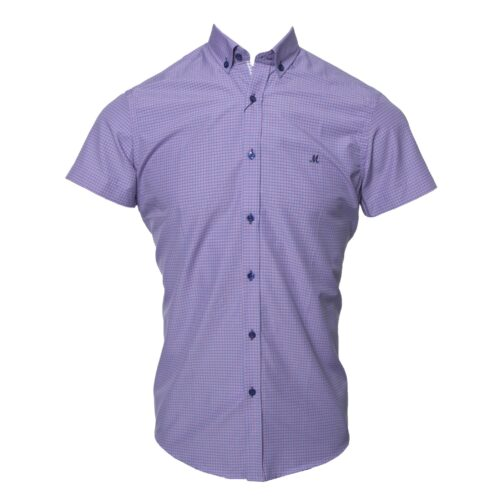 AGUILA PINK SHORT SLEEVE CHECK SHIRT