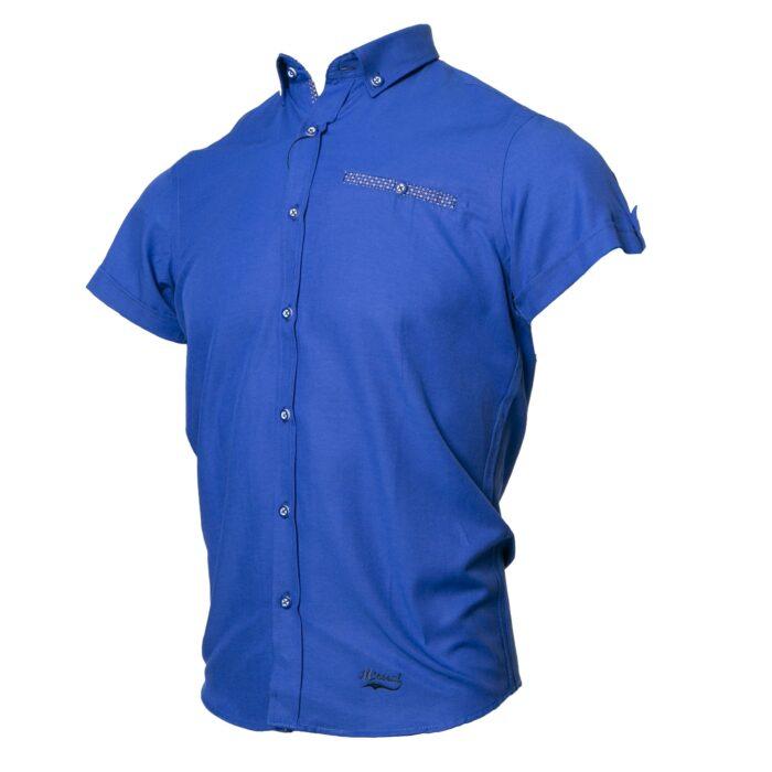 TOLKA DARK BLUE SHORT SLEEVE OXFORD SHIRT