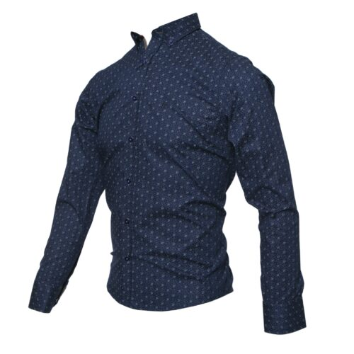 TORRE NAVY LONG SLEEVE SHIRT