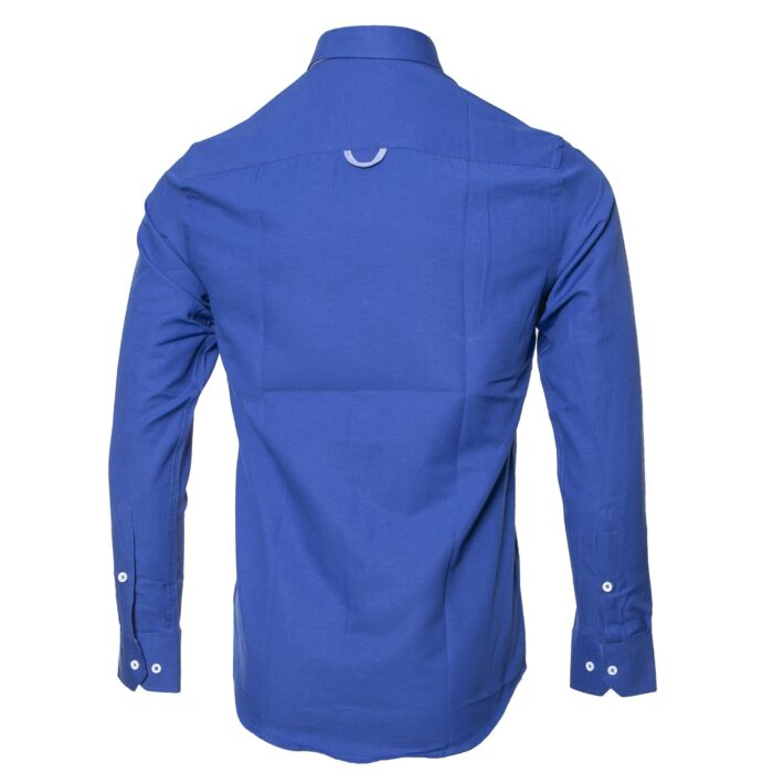 LOLLAND DARK BLUE OXFORD LONG SLEEVE  SHIRT