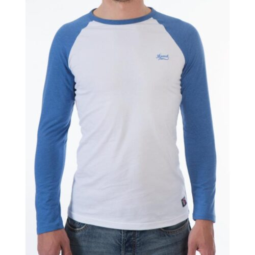 NORIKER LONGSLEEVE TEE WHITE/ROYAL MARL