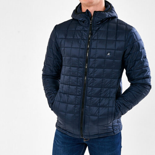 HOODED NAVY JACKEY