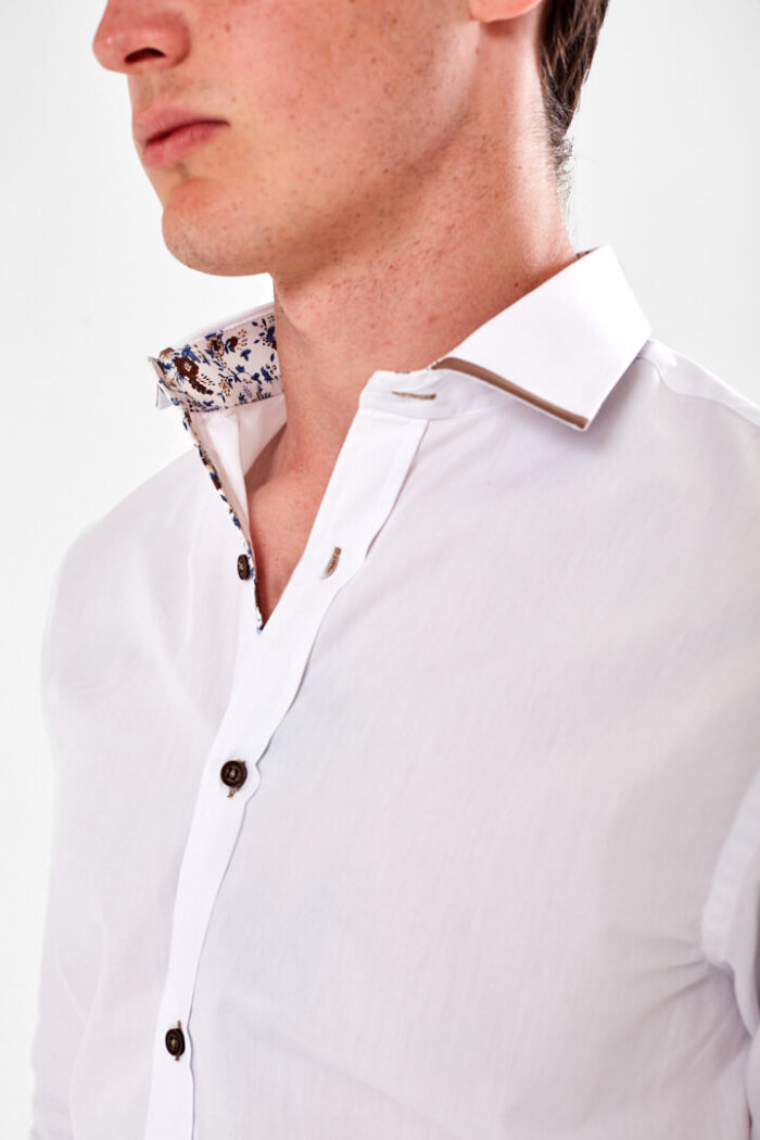 white shirt with trim