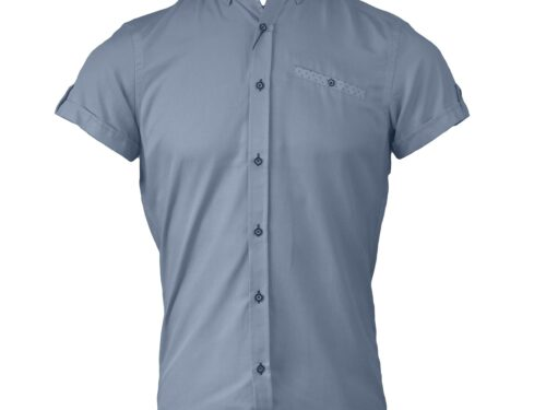 TOLKA SKY BLUE SHORTSLEEVE OXFORD SHIRT