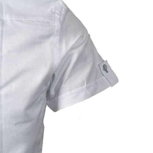 TOLKA WHITE SHORTSLEEVE OXFORD SHIRT