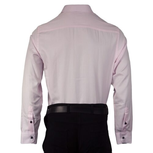 UNION SELF PATTERN PINK LONG SLEEVE SHIRT