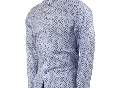 LAVIE WHITE/BLUE LONGSLEEVE SHIRT