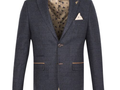 FRATELLI FJK1010 WOOL MIX NAVY BLAZER