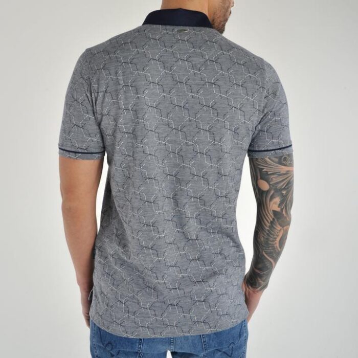 ASTRO NAVY PATTERN SHORT SLEEVE POLO
