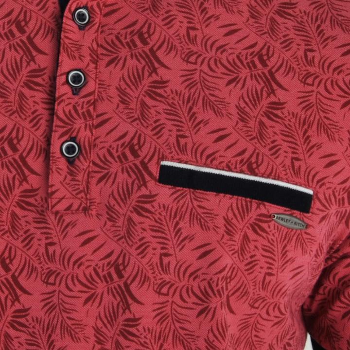 Denva red short sleeve polo