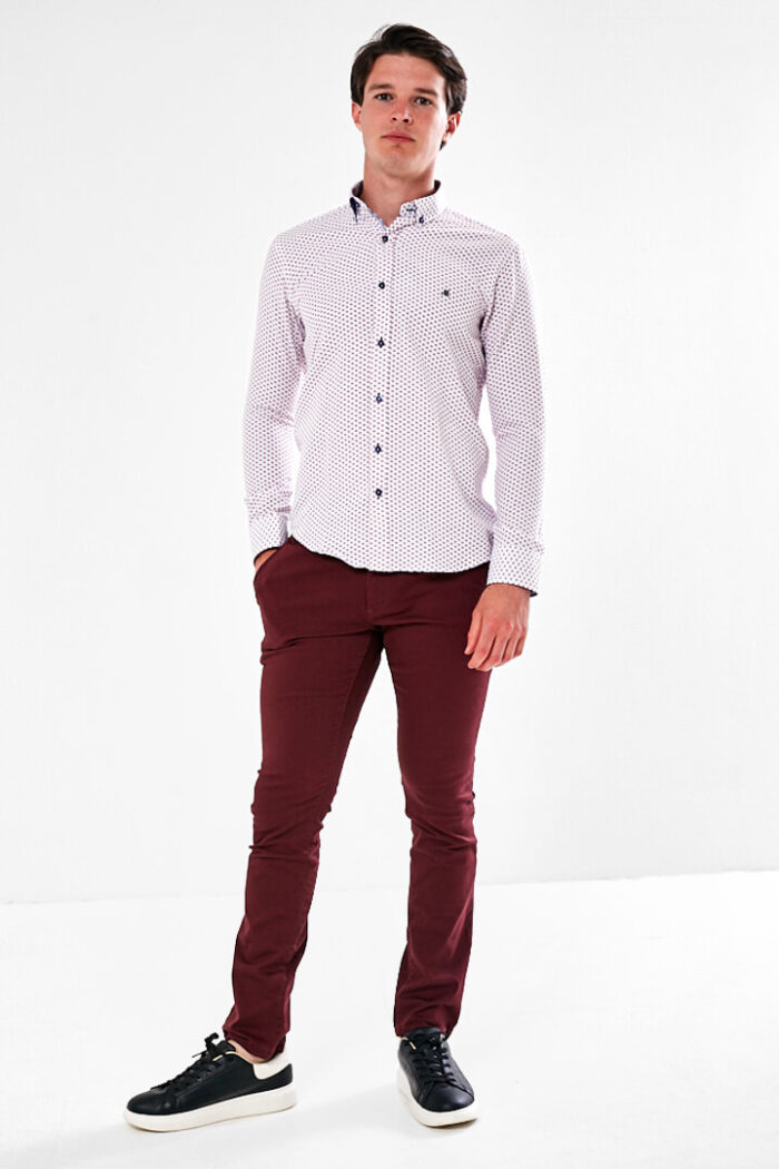 long sleeve shirt with chino